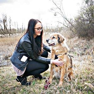 Eileen und Ihr Hund Bud